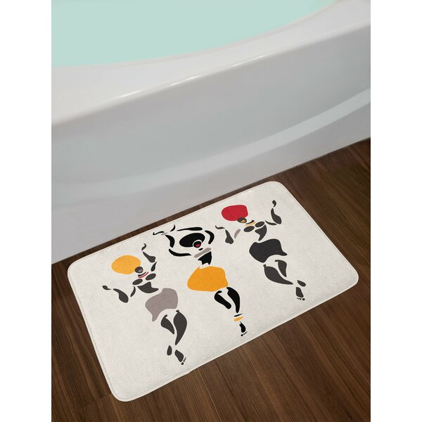 African Fractal Figures Bath Rug by East Urban Home