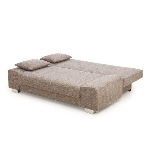 Schlafsofa Lora Zipcode Design Polsterung: Strukturstoff| Farbe: Braun | Wohnzimmer > Sofas & Couches > Schlafsofas | Zipcode Design