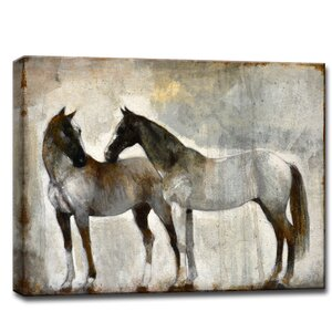'Kindred' by Norman Wyatt Jr. Painting Print on Wrapped Canvas by Ready2hangart