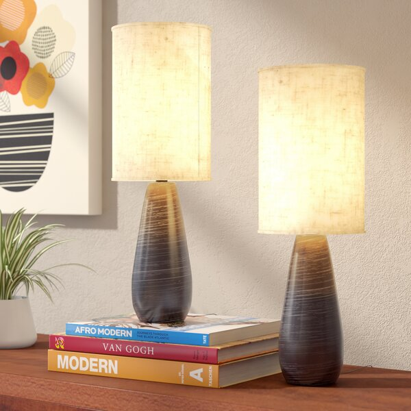 Alcinous 17.5 Table Lamp (Set of 2) (Set of 2) by Mercury Row