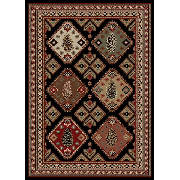 American Destinations Black/Brown Area Rug by Mayberry Rug