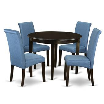 Winston Porter Amya Small Kitchen Table 5 Piece Solid Wood