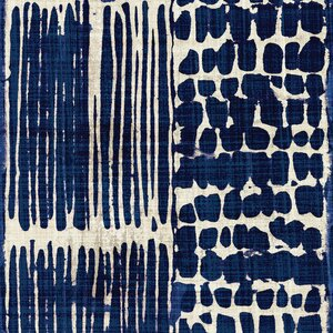 'Indigo Batik III' by Wild Apple Portfolio Graphic Art on Wrapped Canvas by East Urban Home