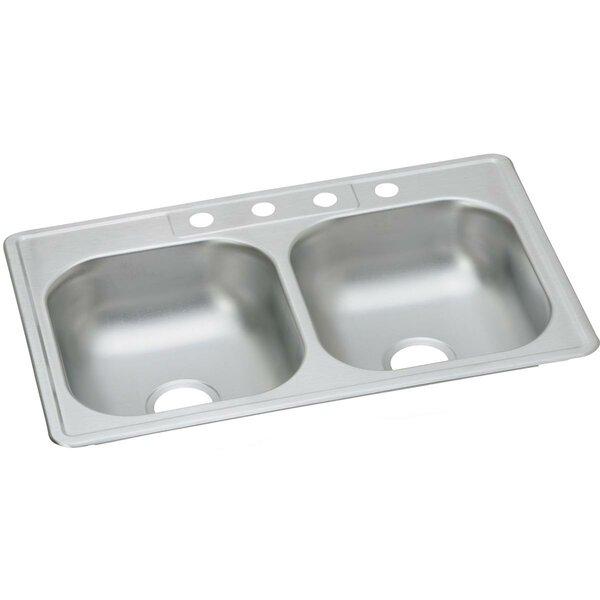 Dayton 33 L x 21 W Double Basin Drop-In Kitchen Sink