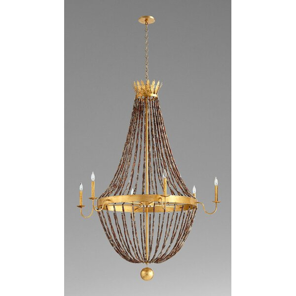 6 - Light Candle Style Empire Chandelier By Cyan Design