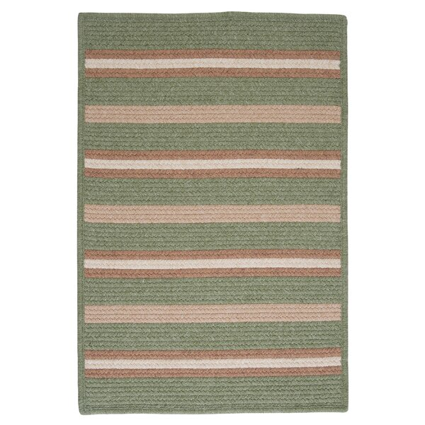 Salisbury Green Striped Area Rug by Colonial Mills