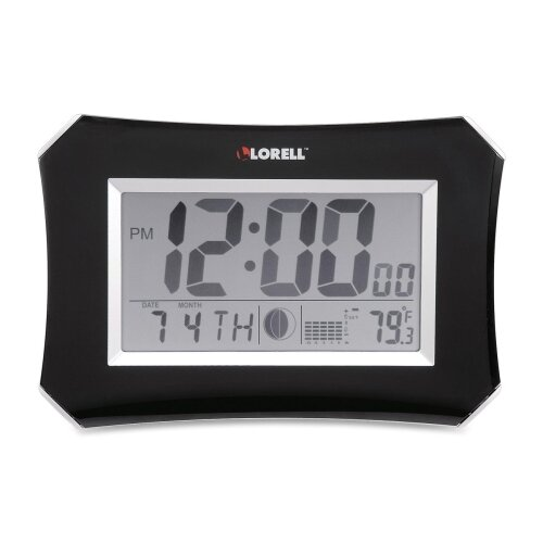 LCD Wall/Alarm Table Clock by Lorell