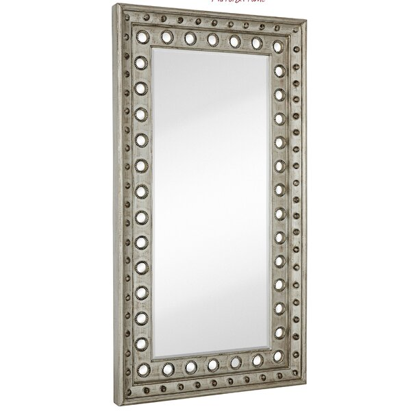 Huge Rectangular Silver Leaf With Black Rub Beveled Glass Decorative Wall Mirror by Majestic Mirror