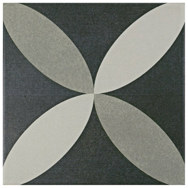 Forties 7.75 x 7.75 Ceramic Field Tile in Petal Gray by EliteTile