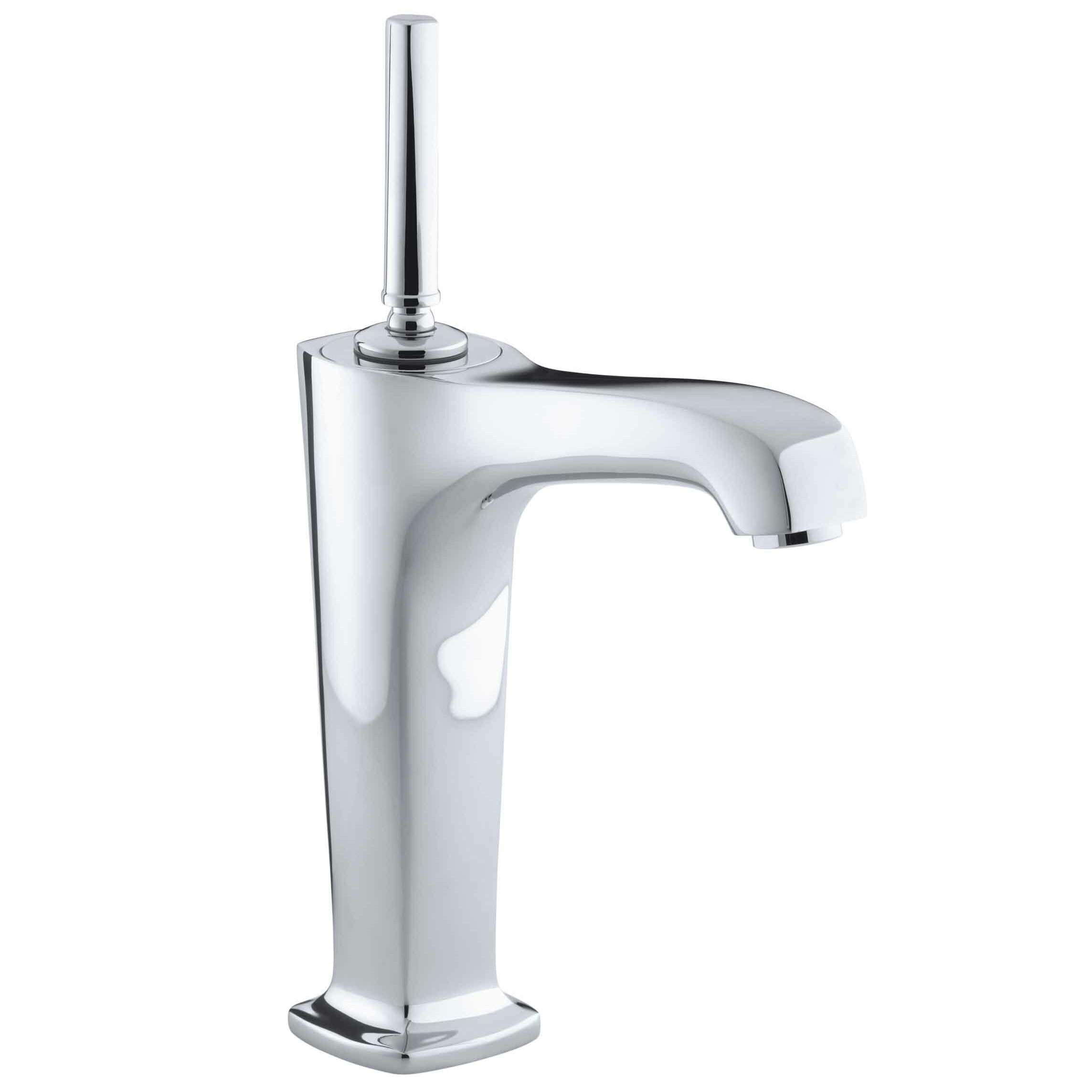 faucet victorian bathroom hole chrome handle delta waterfall faucets single products