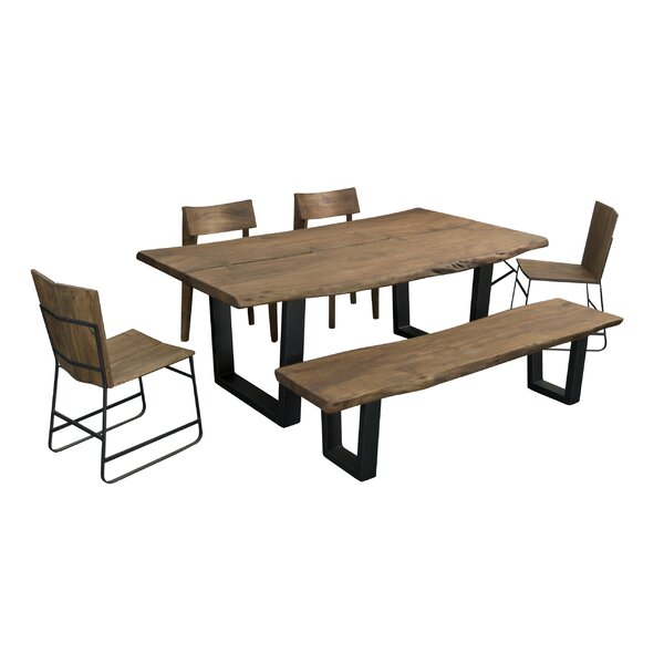 Speedwell 6 Piece Solid Wood Dining Set by Union Rustic