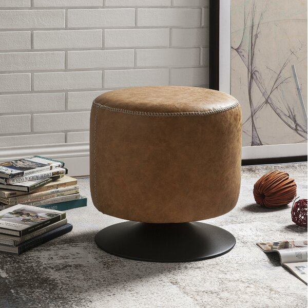 Kellogg Upholstered Swivel Ottoman by 17 Stories