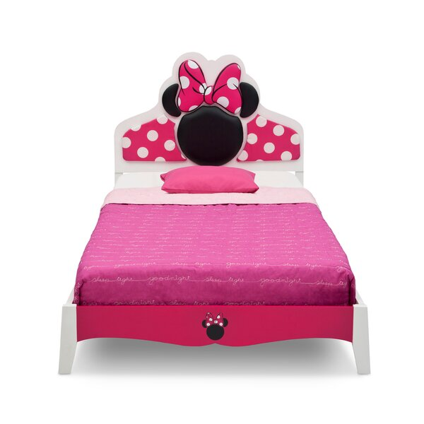 Disney Minnie Mouse Wood Twin Panel Bed by Delta Children