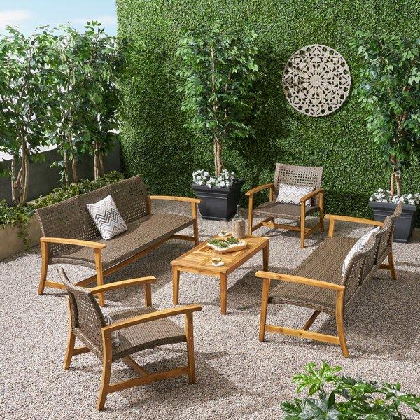 Spann 5 Piece Sofa Seating Group by Bayou Breeze