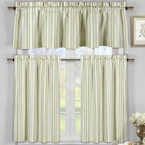 Julius 3 Piece Kitchen Curtain Set
