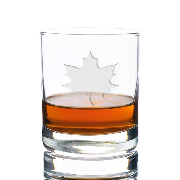 Faust Maple Leaf Rocks 10 oz. Glass Every Day Glass by Loon Peak