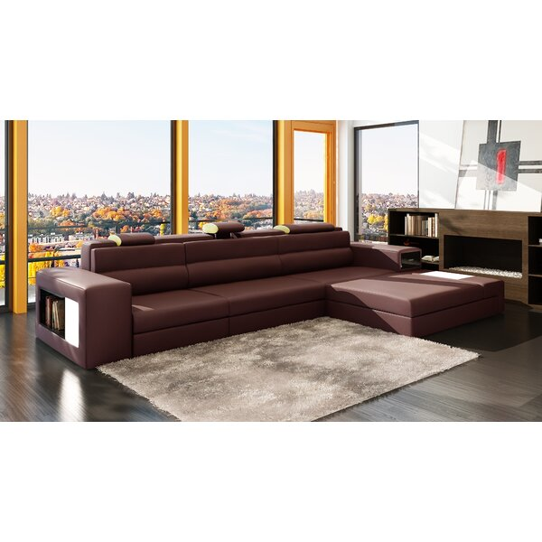 Top Offers Bercut Right Hand Facing Esmarelda Sectional by Orren Ellis by Orren Ellis
