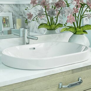Shop For Ava Classically Redefined Ceramic Oval Vessel Bathroom Sink with Overflow ByDECOLAV