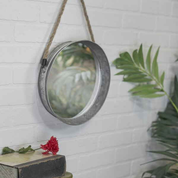 Galvanized Wall Mirror by American Mercantile