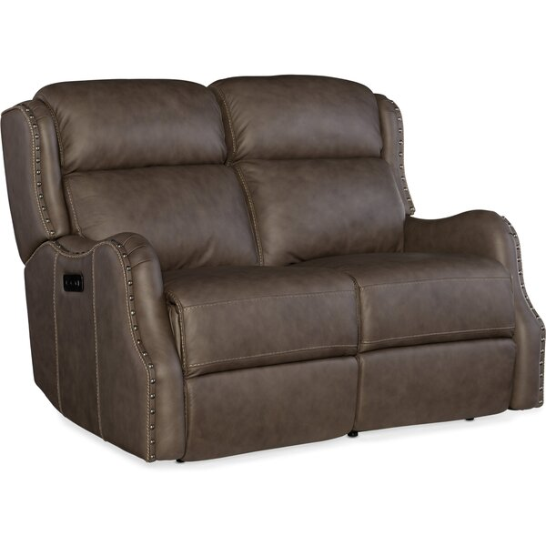 Free Shipping Sawyer Power Leather Reclining Loveseat