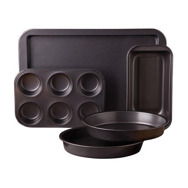 5 Piece Non-Stick Carbon Steel Bakeware Set by Sunbeam