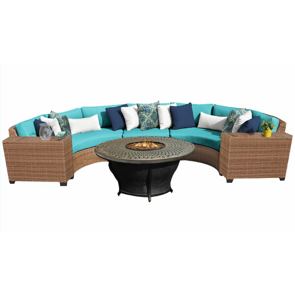 Waterbury 6 Piece Sectional Seating Group with Cushions by Sol 72 Outdoor