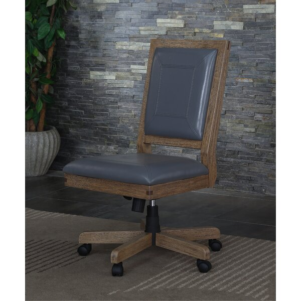 Bluegrass Genuine Leather Office Chair by Foundry Select