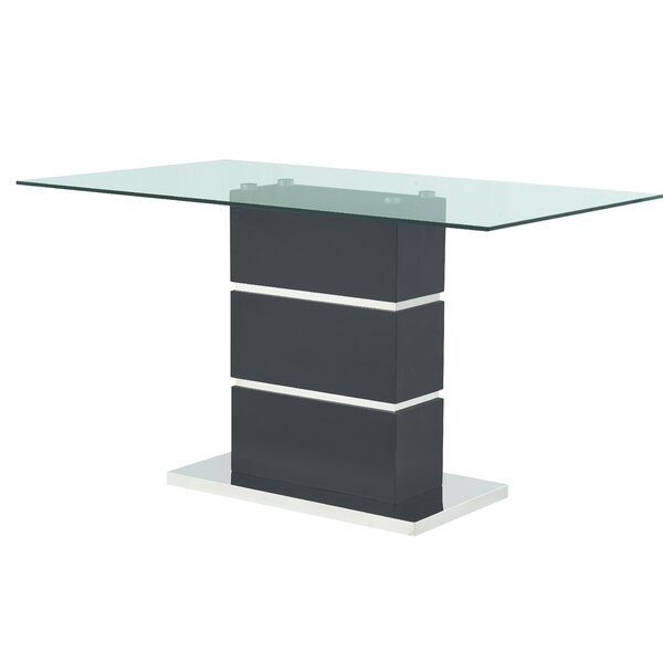 Hebden Pedestal Base Counter Height Dining Table By Wade Logan