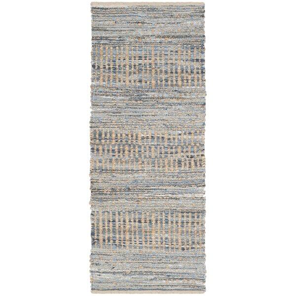 Bernd Hand-Woven Natural/Blue Area Rug by Trent Austin Design