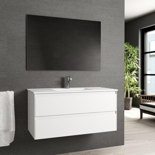 Arnau 39 Wall-Mounted Single Bathroom Vanity Set