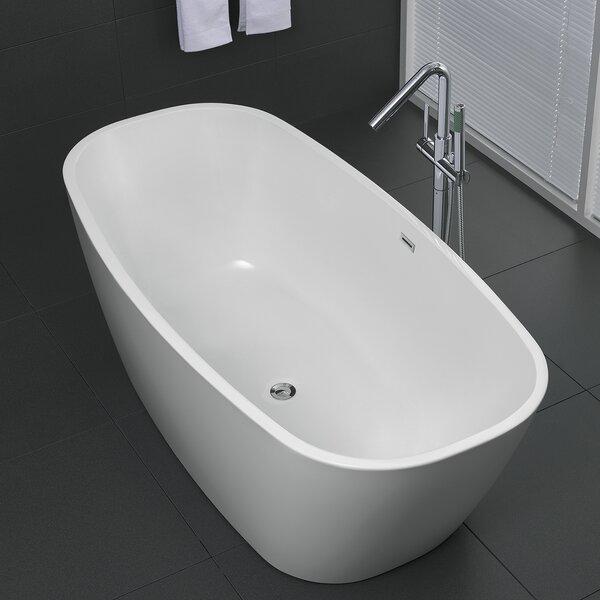 Bridge Series 67'' x 30.7'' Freestanding Soaking Bathtub by ANZZI