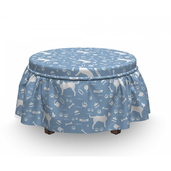 Dog Item Ottoman Slipcover (Set Of 2) By East Urban Home