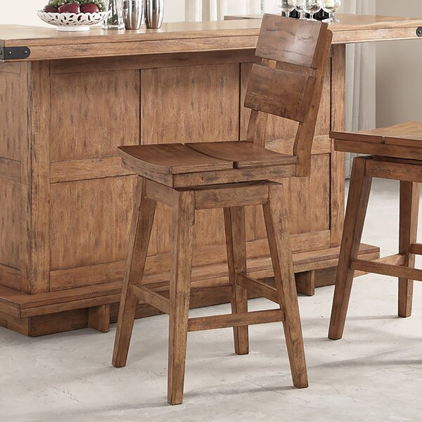 Aon Swivel Bar Stool (Set of 2) by Loon Peak
