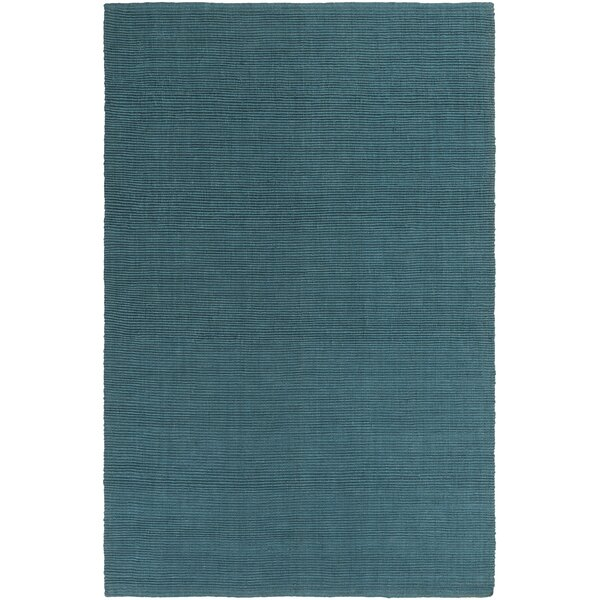 Yother Hand-Woven Teal Area Rug by George Oliver
