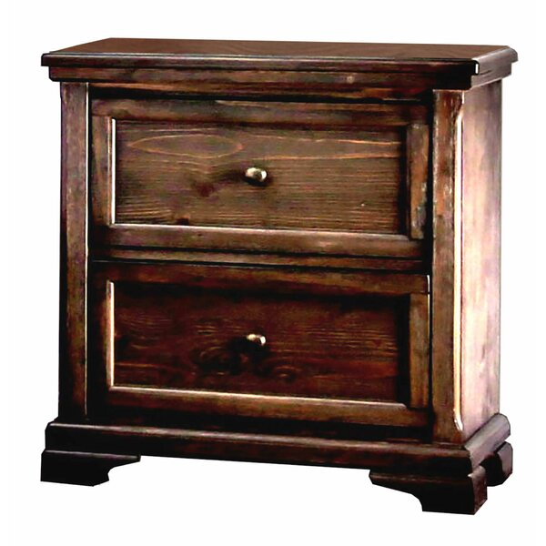 Stephane Wooden 2 Drawer Nightstand by Red Barrel Studio