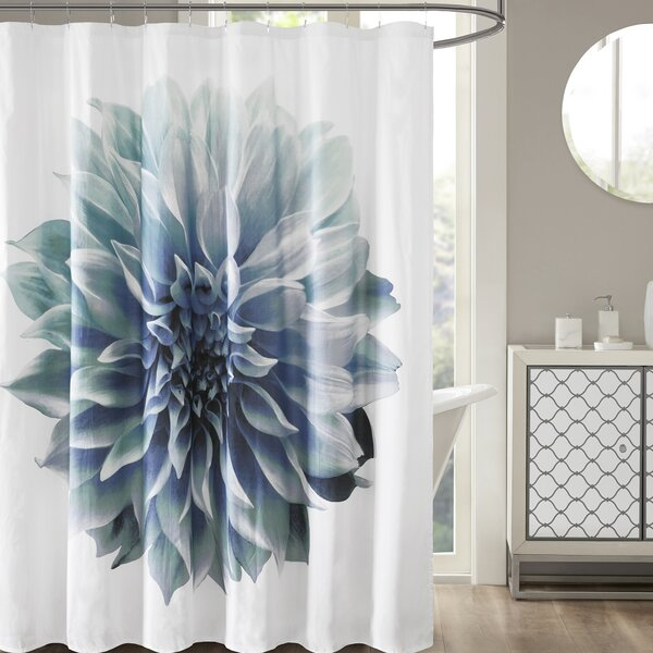 Griswold Percale 200 Thread Count Cotton Shower Curtain by Latitude Run