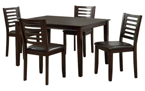 Lavine Transitional 5 Piece Dining Set by Winston Porter