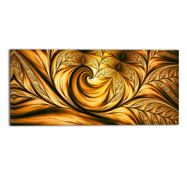 Golden Dream Abstract Graphic Art on Wrapped Canvas by Design Art