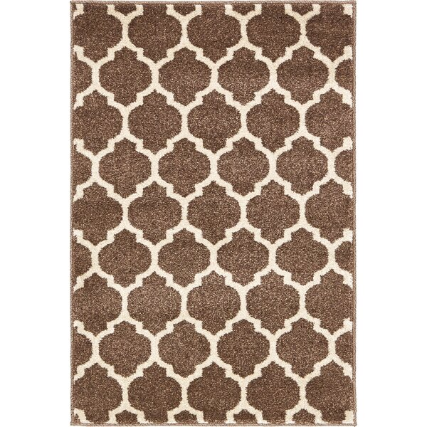 Moore Light Brown Area Rug by Charlton Home
