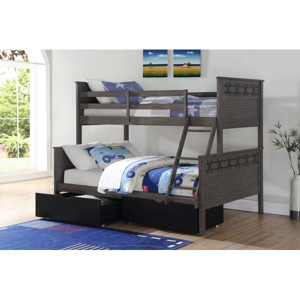 Coll Barn Twin over Full Bunk Bed with Drawer by Harriet Bee