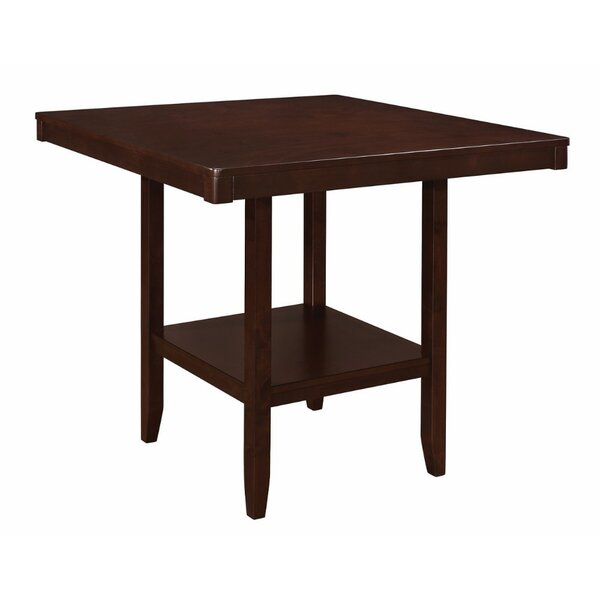 Pyron Wooden Square Counter Height Dining Table by Charlton Home