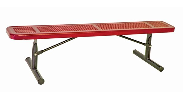 Metal and Plastic Picnic Bench with No Back by Ultra Play