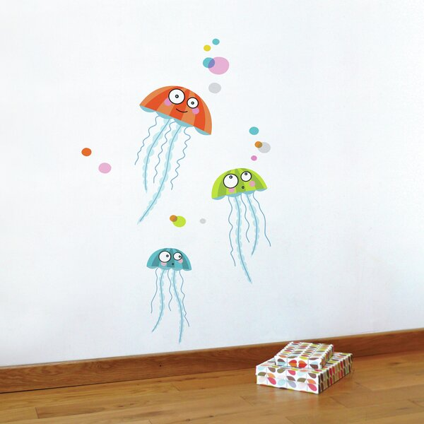 Cecelia Jellyfishes Wall Sticker/Decal by Harriet Bee