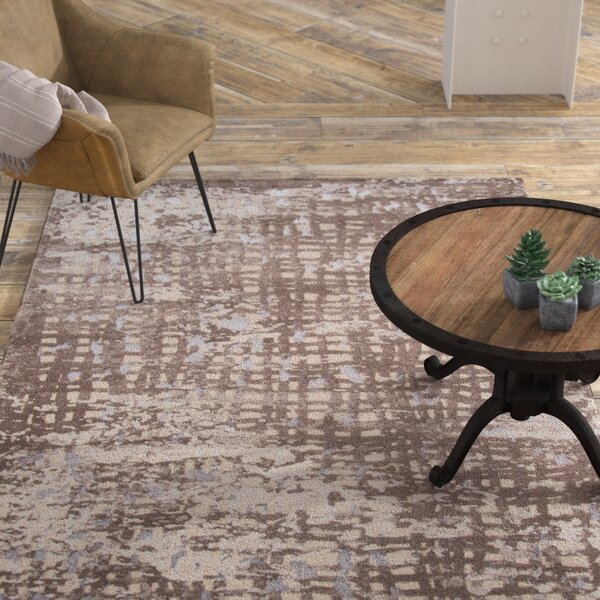 Pierce Brown/Beige Area Rug by Williston Forge