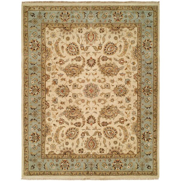 Rason Hand-Knotted Ivory/Light Blue Area Rug by Wildon Home ®