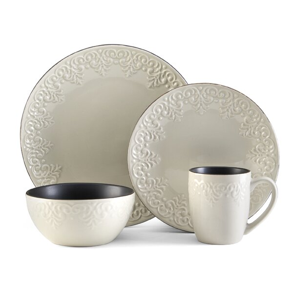 Joliette 16 Piece Dinnerware Set, Service for 4 by Pfaltzgraff