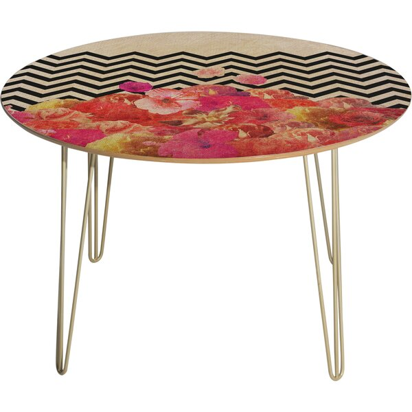 Chevron Flora 2 Dining Table by East Urban Home East Urban Home