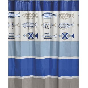 Nautical Bath Printed Peva Liner Shower Curtain
