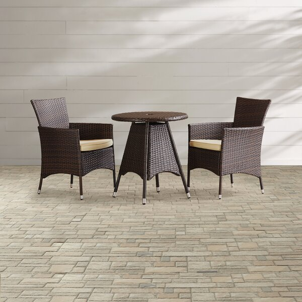 Betria 3 Piece Bistro Set With Cushions By Mercury Row by Mercury Row #2