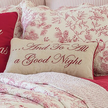 Gloria And To All A Good Night Lumbar Pillow By Laurel Foundry Modern Farmhouse.